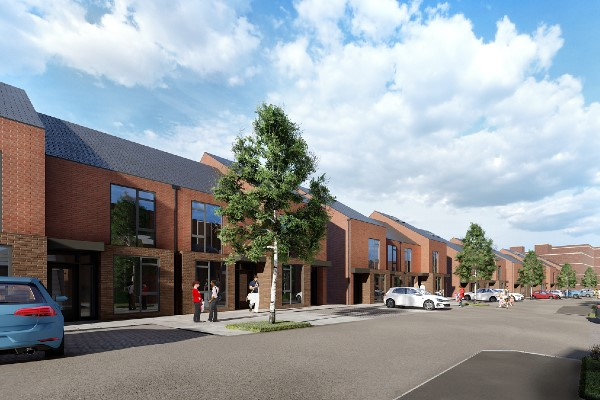 An artist's impression of the Wellgate Place housing development.